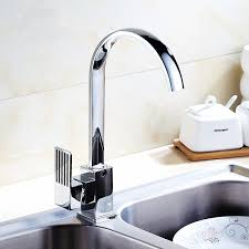 buy chrome plated square single silver bathroom copper kitchen dish basin faucet chrome plated rotated single hole bas