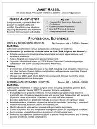sample resume for nurse anesthetist healthcare news information and career advice crna resume examples