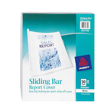 com avery sliding bar clear report covers pack of  com avery sliding bar clear report covers pack of 50 47710 business report covers office products