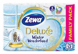 <b>Бумага туалетная Zewa Deluxe</b> 3х-слойная БЕЛАЯ 12 рулонов, в ...
