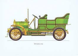 <b>Гравюра Ariel-P Ретро автомобиль</b> Спайкер (Spyker) 1906 года ...