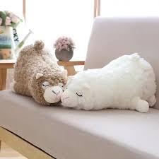 45cm Japanese <b>Alpacasso Plush Toys Stuffed</b> Lying Alpaca Toys ...