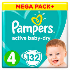 <b>Подгузники Pampers Active Baby Dry</b> 9 14 кг, 4 размер, 132 шт.-in ...