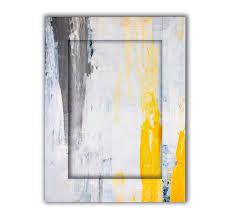 <b>Картина с арт рамой</b> Желтый, серый и белый 35 х 45 см