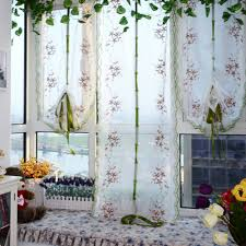 roman shade kitchen windows sheer curtains for living room kitchen shade window embroidere