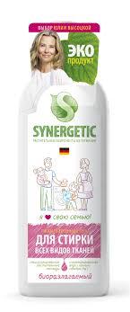 Средство для <b>стирки</b> белья <b>Synergetic</b>, 1 л - купить по цене 334 ...