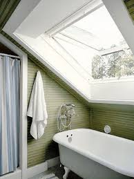 attic bathroom slanted ceiling