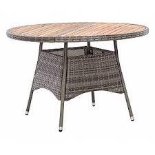 VIDAXL <b>Garden Table</b> Grey <b>115x74</b> cm Poly Rattan and Acacia Wood