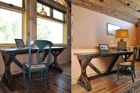 rustic desk diy build rustic office desk