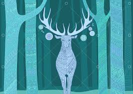 Christmas <b>deer</b>. Merry Christmas and <b>Happy New</b> Year card with ...