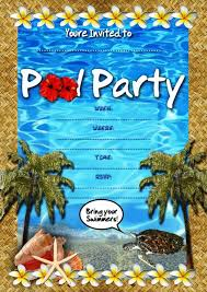 pool party invitation ideas pool party invitation template