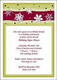 company business holiday invitation wording ideas and samples holiday business open house invitation