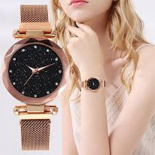 Best Selling <b>Women</b> Mesh <b>Magnet</b> Buckle Starry Sky <b>Watch</b> Casual ...