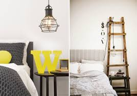cage_light_pendants_in_bedroom_via_design_lovers_blog these two cage light pendants emphasize the relaxed nature of these bedrooms bedroom lighting bedroom ceiling lights bedside