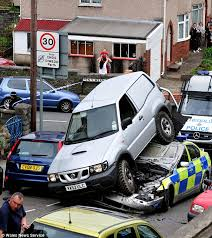 Image result for north wales wrecked cop car