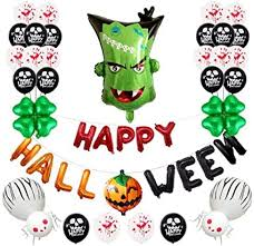 <b>Halloween Balloons Festival</b> Party Mall Bar Ghost Decoration ...