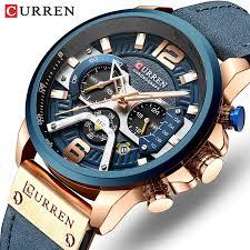 CURREN <b>Luxury Brand Men</b> Analog Leather Sports Watches Men's ...