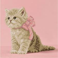 <b>Алмазная</b> вышивка «Кошечка с розовым бантиком» <b>ALVR</b>-<b>115</b> ...