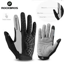 ROCKBROS Windproof Touchscreen <b>Cycling Gloves</b> Riding MTB ...