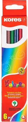 <b>Kores</b> Набор <b>цветных карандашей 6</b> цветов — купить в интернет ...