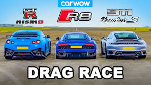 GT-R <b>NISMO</b> v 911 Turbo S v R8 - DRAG RACE - YouTube