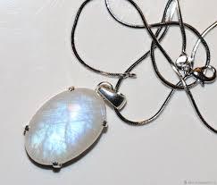 <b>Кулон</b>: <b>лунный камень адуляр</b> натуральный ювелирный серебро ...