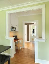 alcove desk ideas home office craftsman with black table green wall decorative molding alcove office