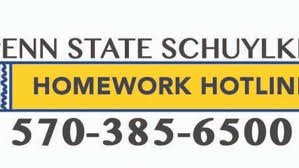 Schuylkill Homework Hotline on call for local middle  high school     Homework Hotline logo with phone number