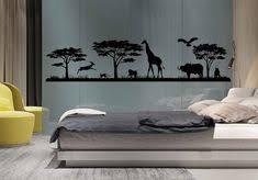 Wild Animals Landscape Vinyl Wall Decal <b>Safari</b> Bedroom Decor ...