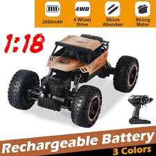 <b>1:18</b> High Speed <b>RC</b> Truck Electric Rock Crawler Vehicle Car 4WD ...