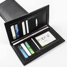 <b>Men's</b> Long Soft <b>Classic Pu Leather</b> Bifold Slim Wallet Luxury Wallet ...