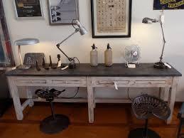 image of vintage industrial desk retro antique office lamp