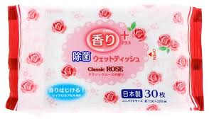 <b>Влажные салфетки Kyowa</b> Shiko с ароматом розы — купить по ...