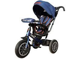<b>Велосипед трехколесный BMW</b>, с музыкальной панелью <b>синий</b> ...