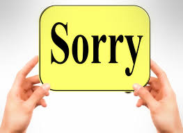 Image result for sorry images