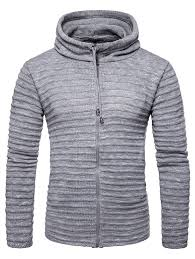 <b>Men's</b> Cardigan Hooded Striped Solid Color Sale, Price & Reviews ...