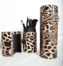 leopard makeup brush holder onesque