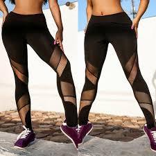 Перспектива сетки йоги Leggings патчворк женщин случайных ...