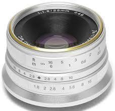 <b>Объектив 7Artisans 25mm F1.8</b> Sony E серебро купить в интернет ...