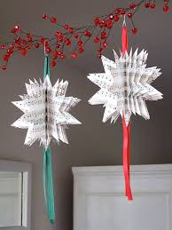 cheap christmas decor: decorating star shape paper cut hang decoration for christmas simple affordable paper christmas decoration diy