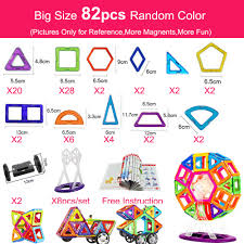 46PCS <b>Big Size Magnetic</b> Designer <b>Magnet</b> Blocks Construction ...