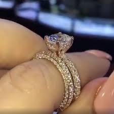 <b>INBEAUT</b> New Trendy <b>Sparkling</b> Round Cut Zircon Ring Set Women ...