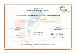 fabrication machining certifications gb manufacturing minority owned