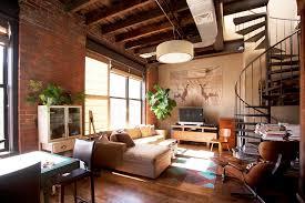 warehouse loft interior design industrial brooklyn loft living room brooklyn industrial office