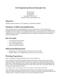 sample resume of construction planning engineer professional sample resume of construction planning engineer sample resume civil engineer resume it training and resume examples