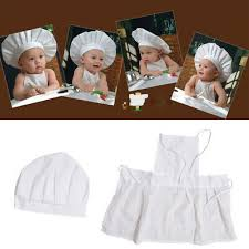 <b>Baby Chef Apron</b>+Hat For Kids Costume Photo Cotton Cook Prop ...