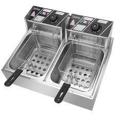 ZOKOP 6L/<b>12L Stainless</b> Steel Single Double Tank Electric Fryer ...