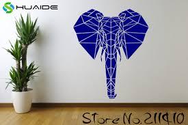 <b>Large Geometric</b> Modern Elephant African Animal <b>Safari</b> Wall Vinyl ...