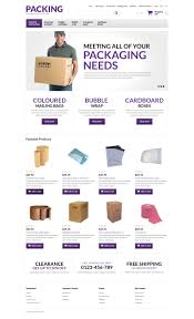 packing products store opencart template  packing products store opencart template