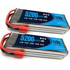 <b>2PCS 11.1V 5200Mah 3S</b> 20C DXF Lipo Battery For Walkera QR ...